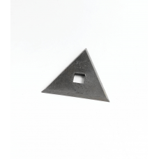 Pajarito 131 Scraper Blade Triangular 60mm