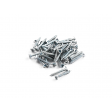 "Wood Screws Aluminium 1"" x 6"