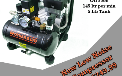 Spotnails new low noise compressor