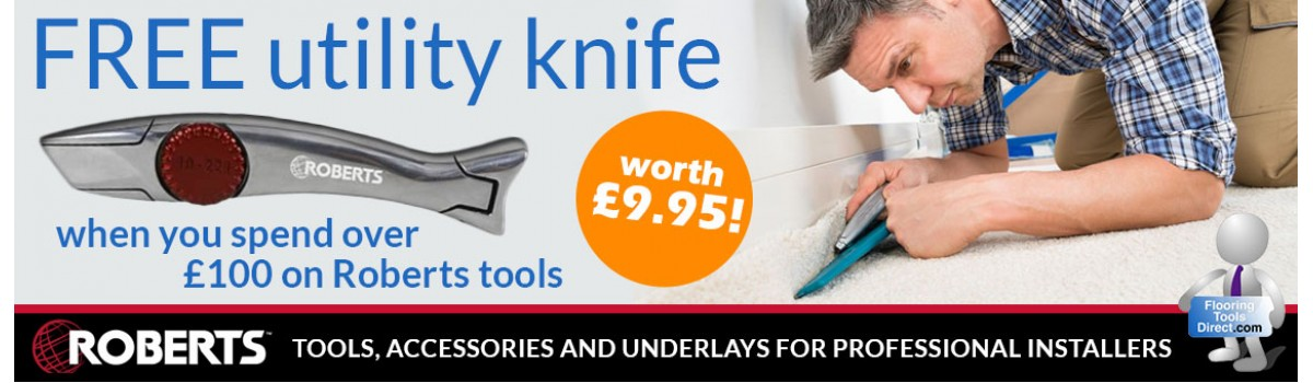 Free utility knife when you spend over £100