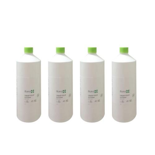 Ilona 80% Sanitiser Gel – 1 Litre Screw cap bottle - 4 pack