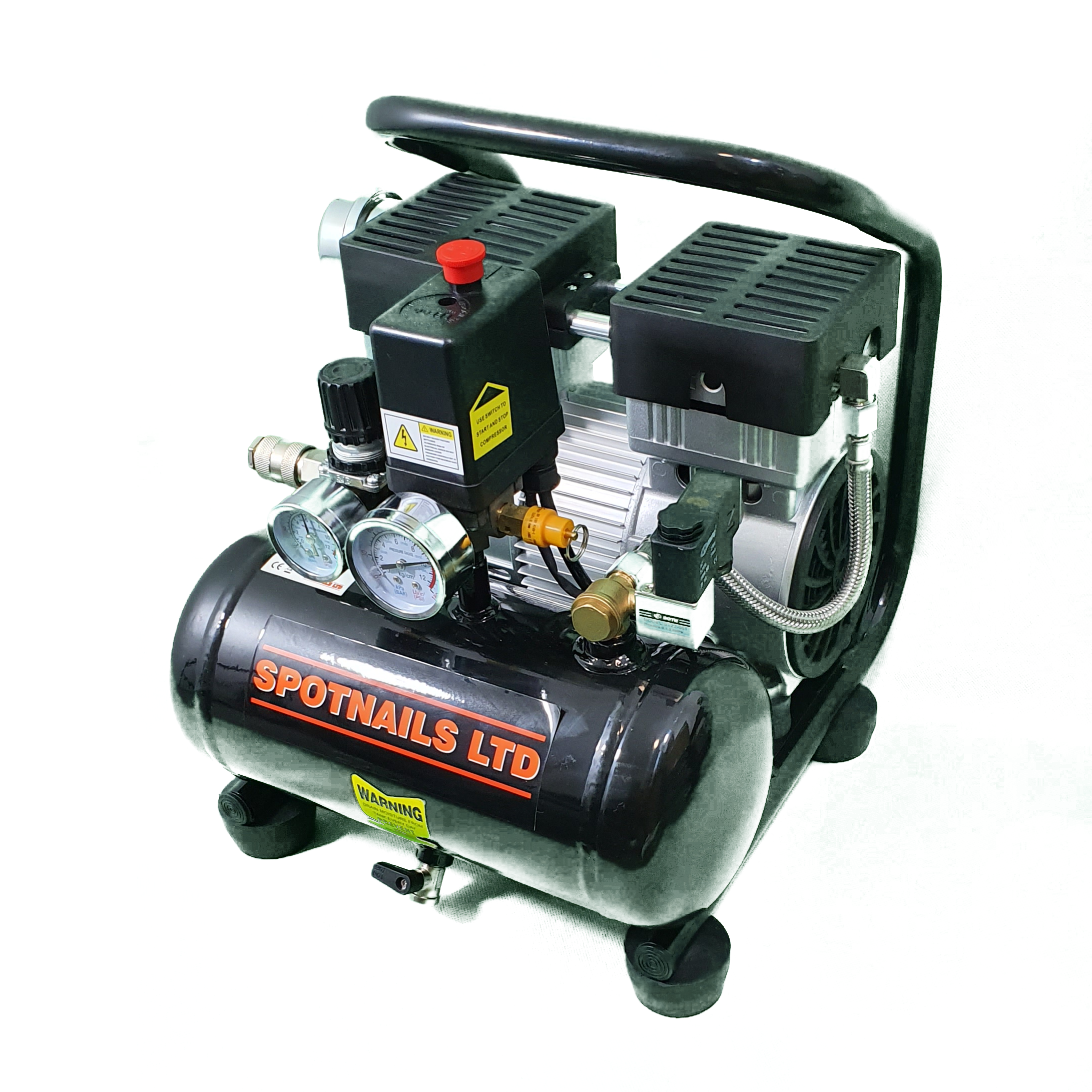 Spotnail new low noise compressor